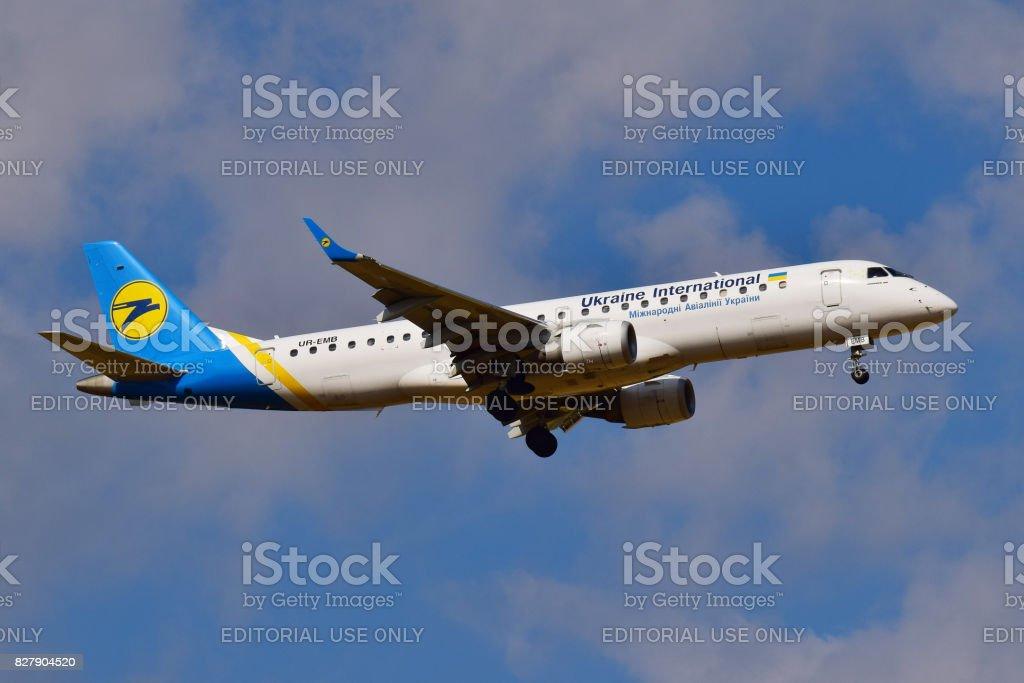 Ukraine International Airlines Embraer ERJ-190 stock photo