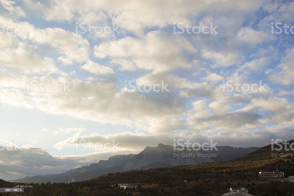 Ukraine mountain ridge royalty-free stock photo