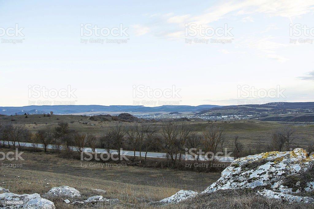 Ukraine plain royalty-free stock photo