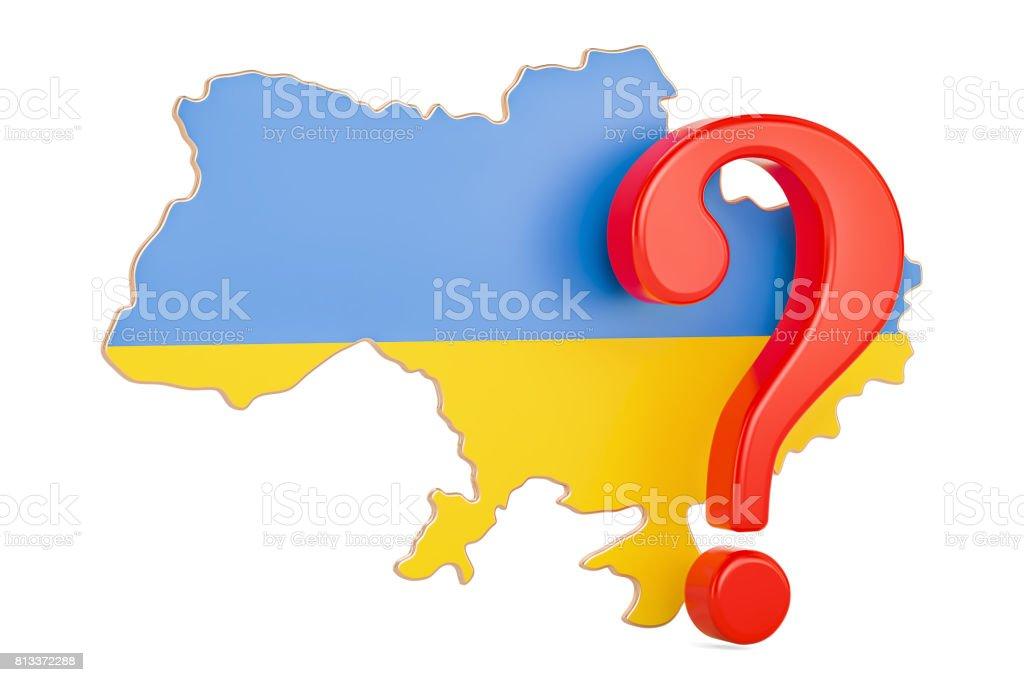Ukraine Question concept, 3D rendering stock photo