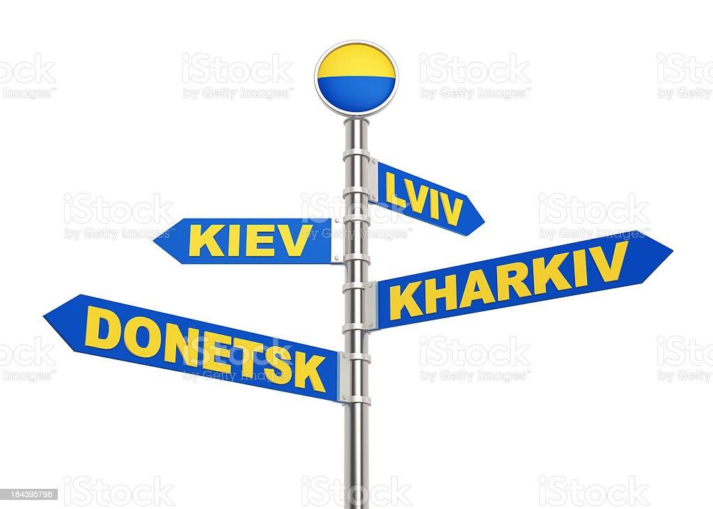 EURO 2012 Ukraine Sign stock photo