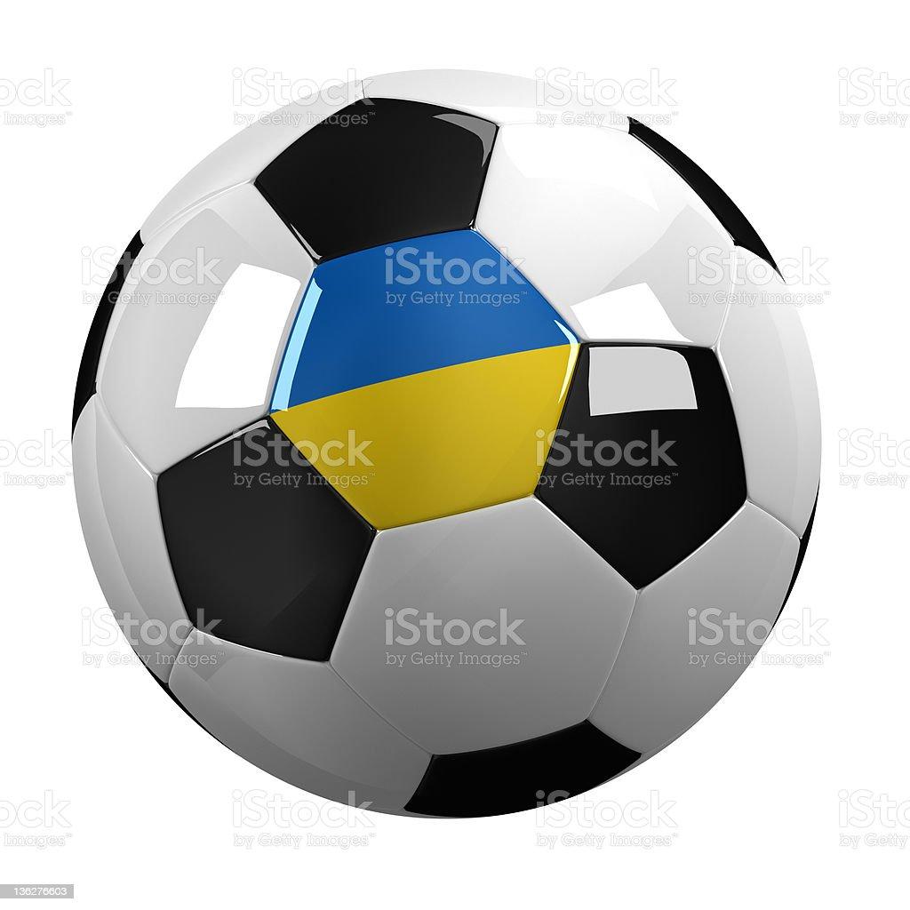 Ukraine Soccer Ball royalty-free stock photo