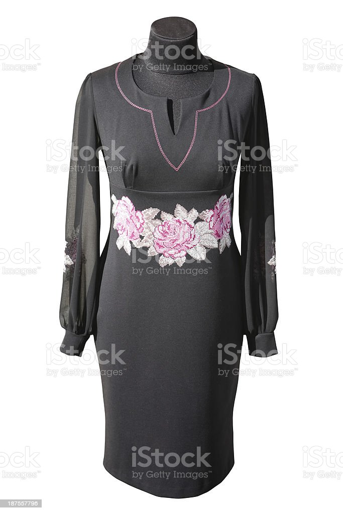 Ukrainian black dress stock photo