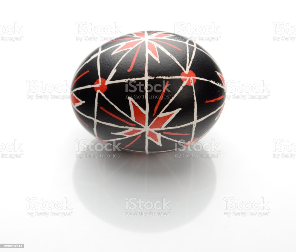 Ukrainian Easter egg stock photo