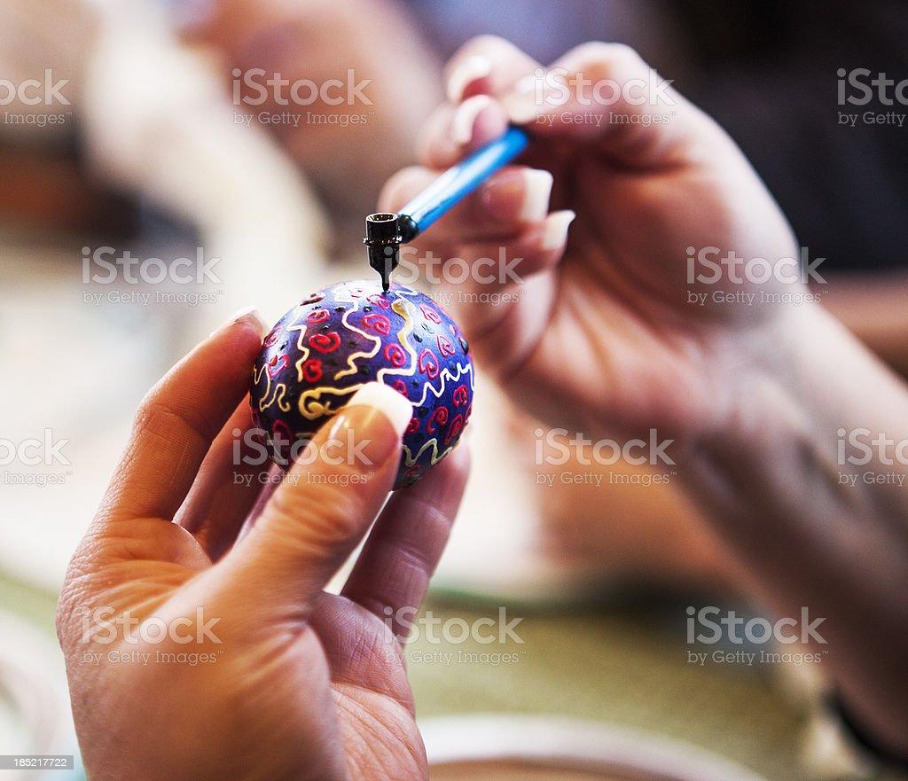 Ukrainian Easter Egg Series stock photo