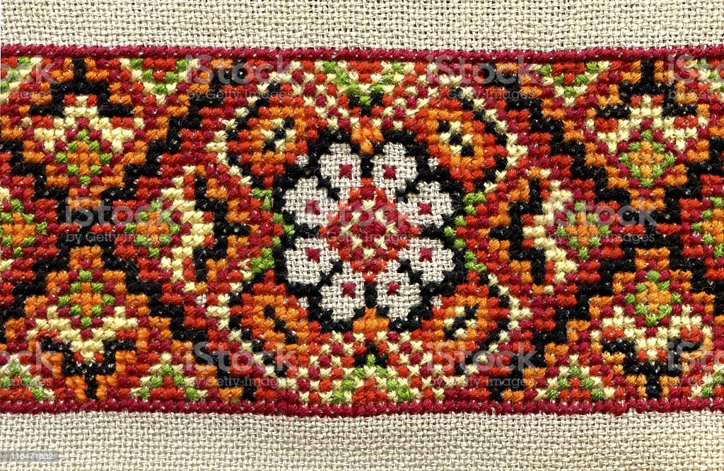 Ukrainian embroidery royalty-free stock photo