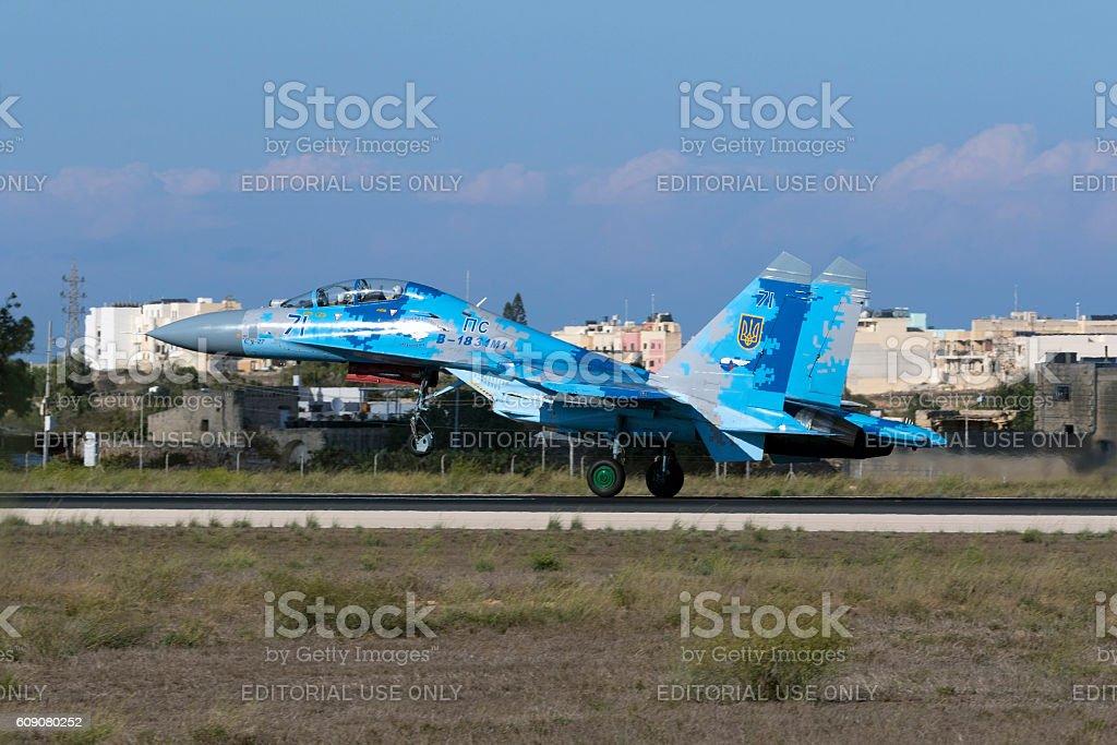 Ukrainian Flanker in 'Digital' Camouflage stock photo