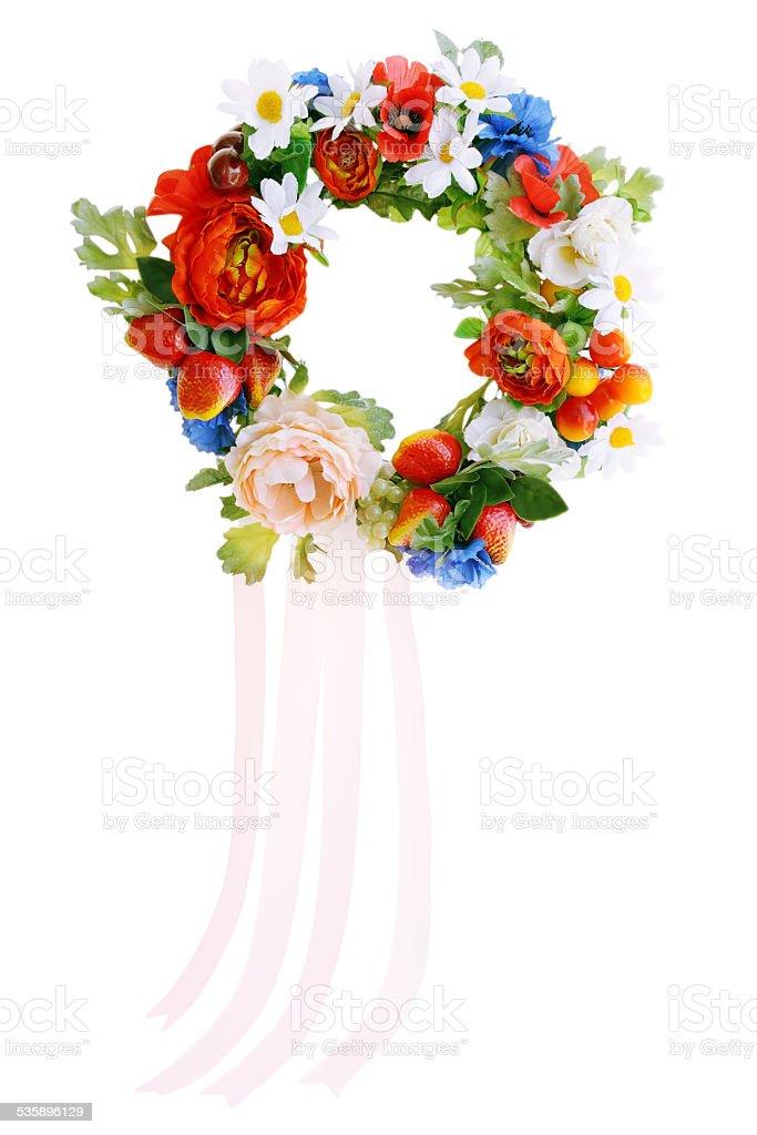 Ukrainian headdress stock photo