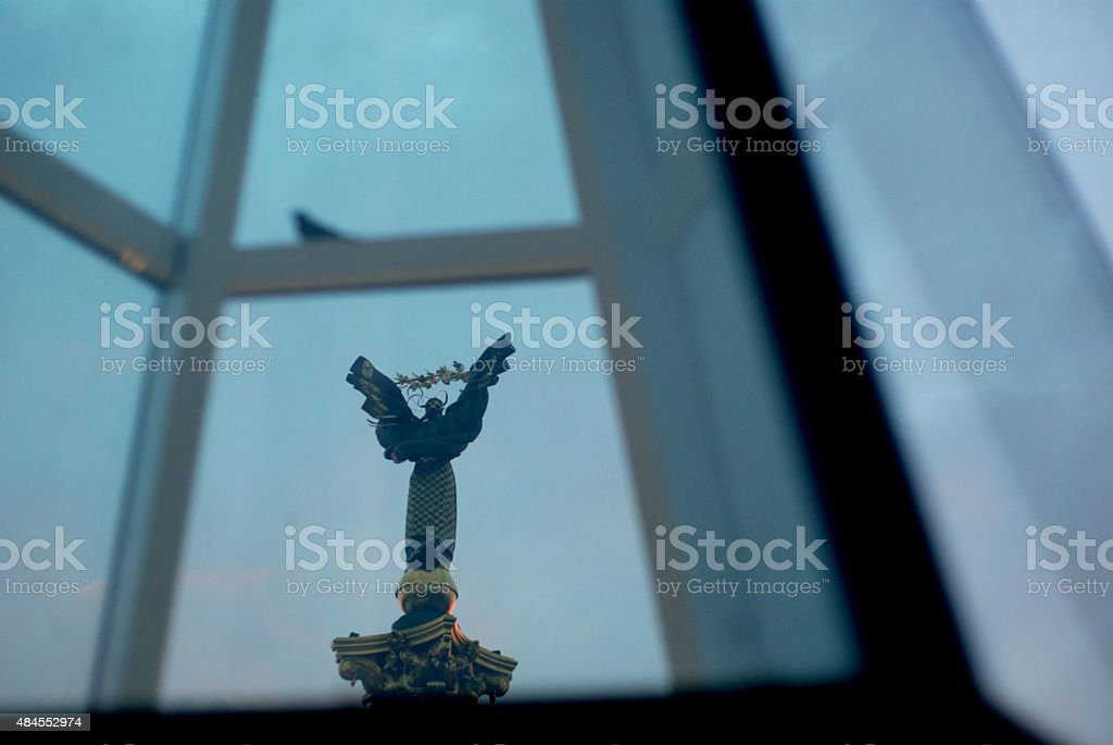 Ukrainian Hearth-Mother Through Window stock photo