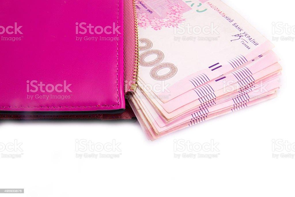 ukrainian hryvnia close up stock photo
