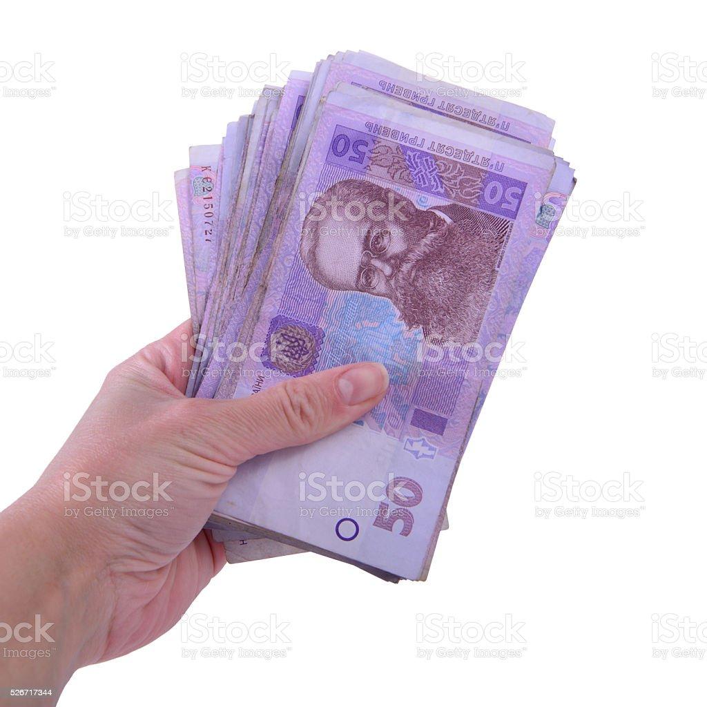 Ukrainian hryvnia currency stock photo