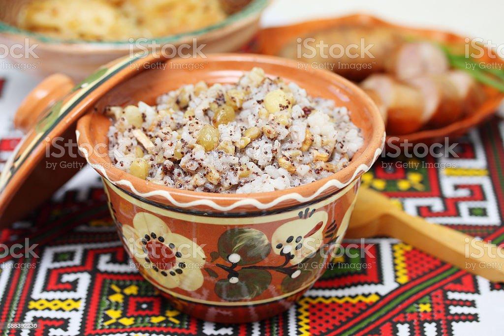 ukrainian kutia dish stock photo