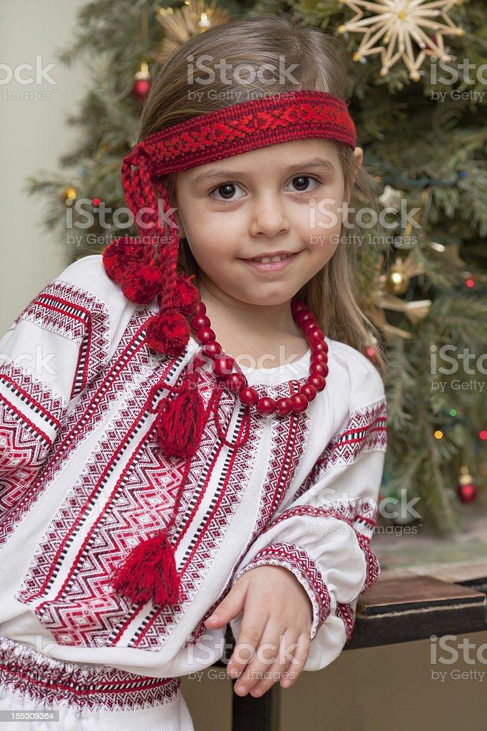 Ukrainian little girl royalty-free stock photo
