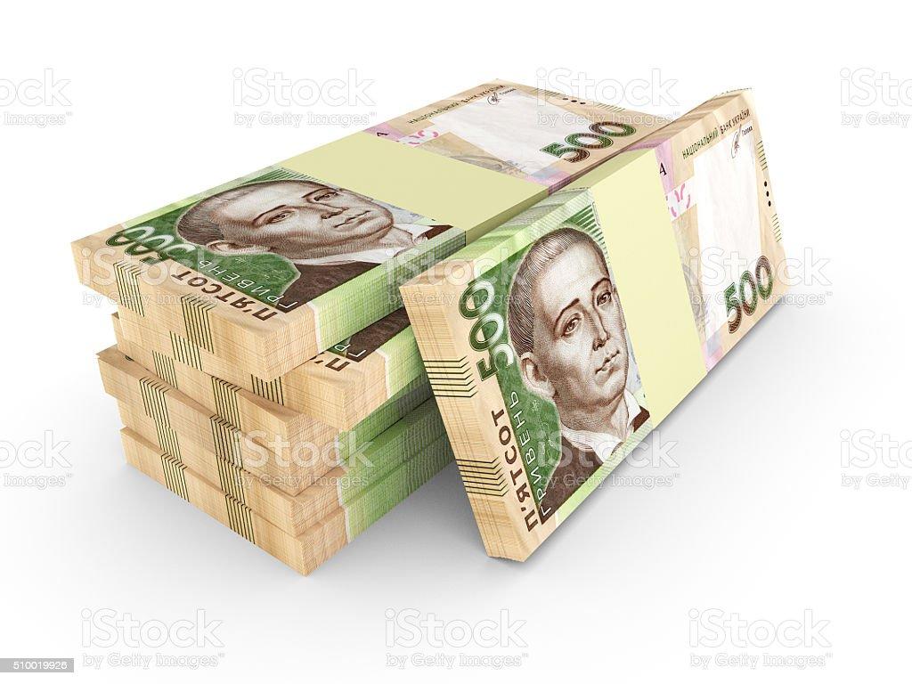 Ukrainian money grivna stock photo
