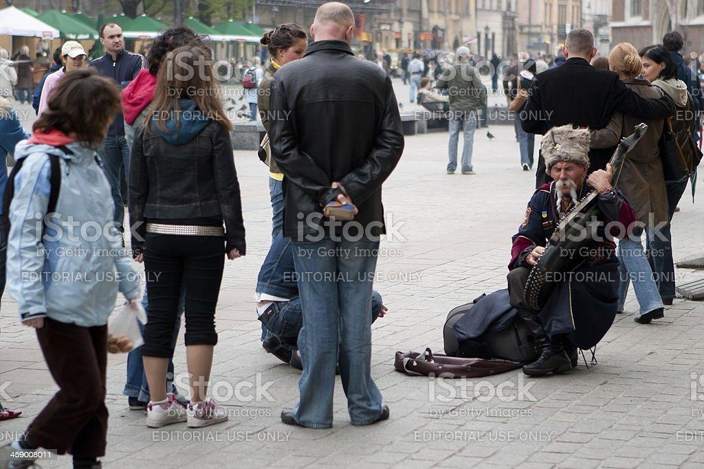 Ukrainian musician stock photo