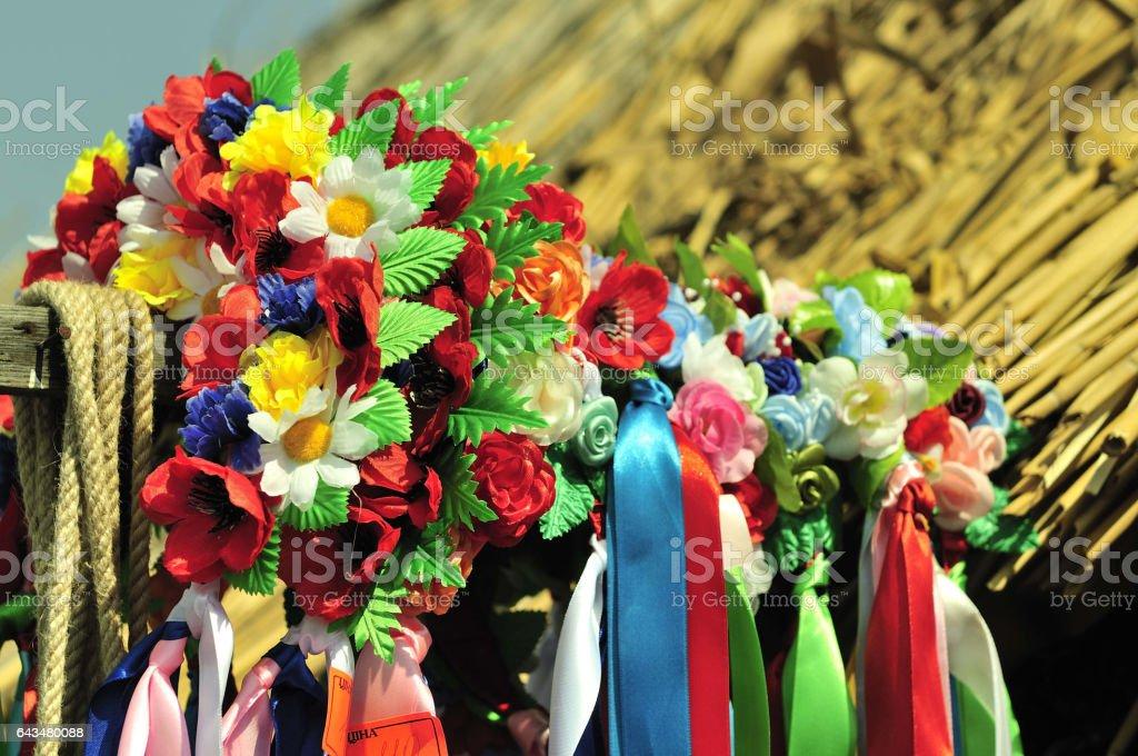 Ukrainian national ornament stock photo