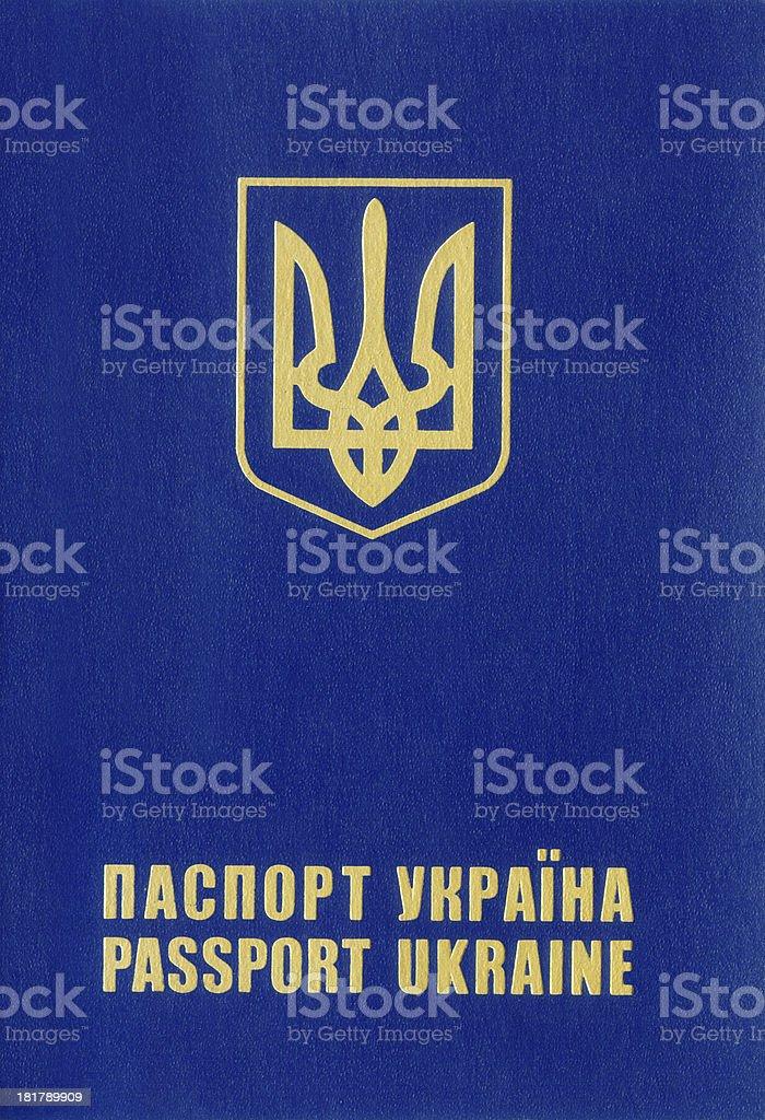 Ukrainian passport. royalty-free stock photo