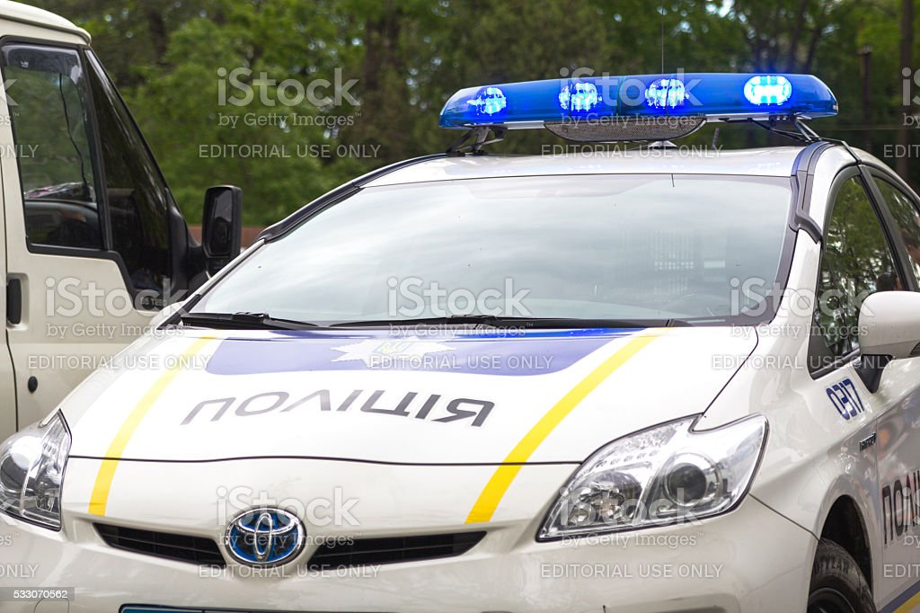 Odesa, Ukraine - May 15, 2016: Ukrainian police patrol car stock photo