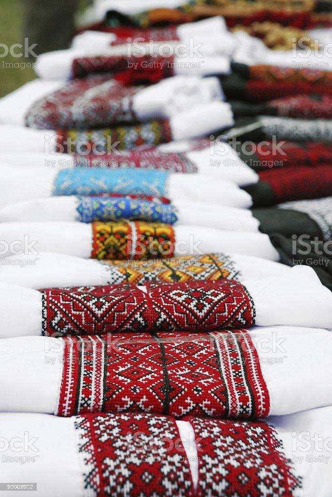 Ukrainian traditional embroidery royalty-free stock photo