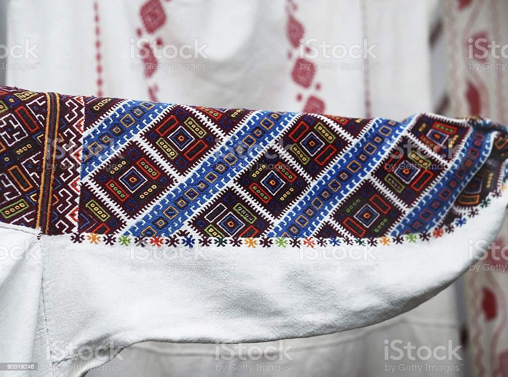Ukrainian traditional embroidery royalty-free stock photo