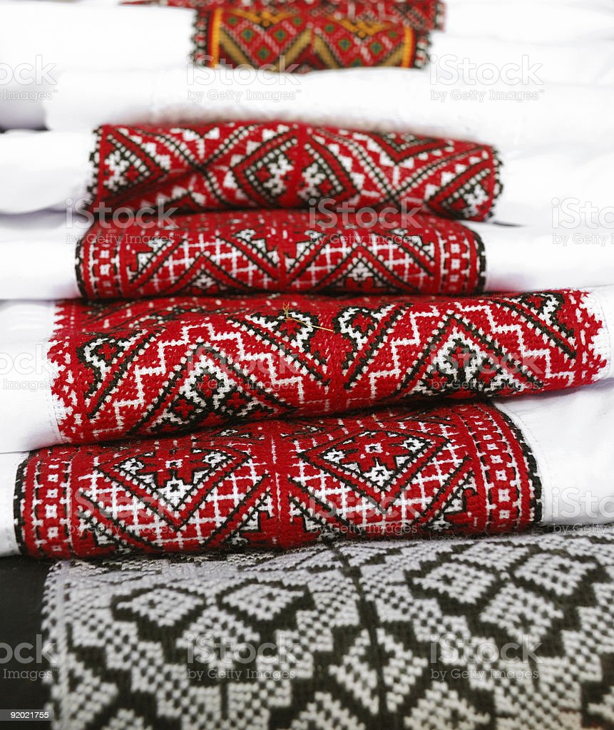 Ukrainian traditional embroidery stock photo