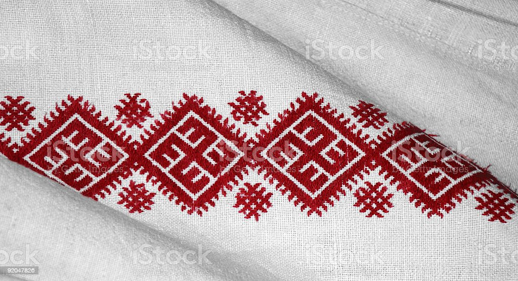 Ukrainian traditional needlecraft royalty-free stock photo