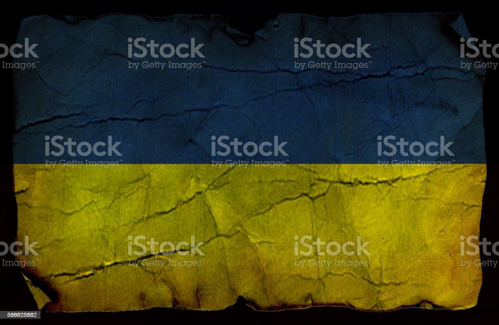 Ukrainian vintage flag stock photo