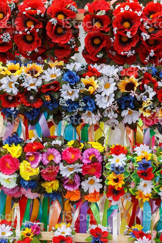 Ukrainian wreath stock photo