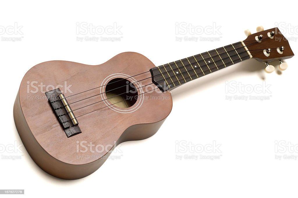 Ukulele guitar on white stock photo