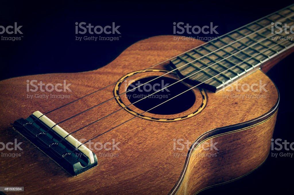 Ukulele wooden. stock photo