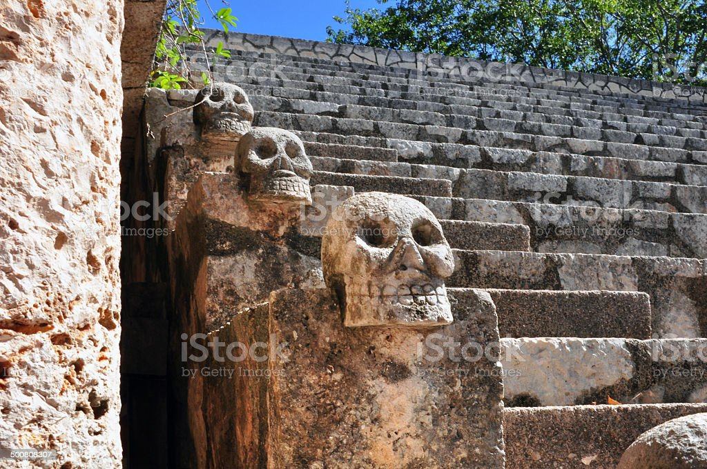 Ulama - Mesoamerican ballgame field stock photo
