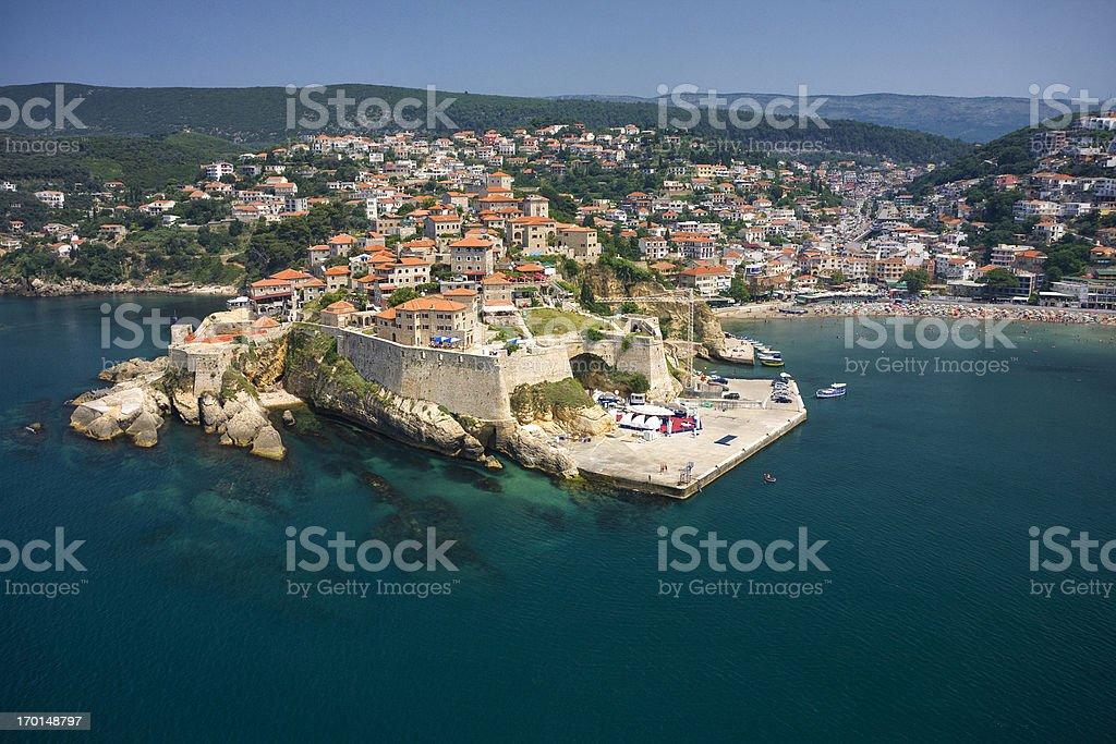 Ulcinj, Montenegro (aerial view) royalty-free stock photo