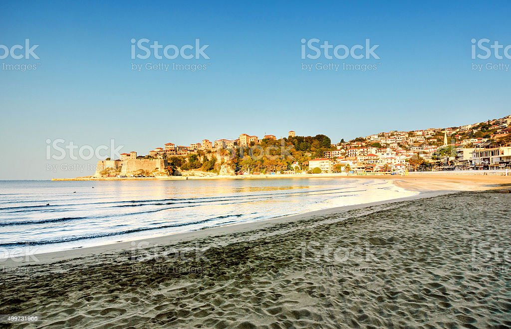 Ulcinj Old town Peninsula, Montenegro stock photo