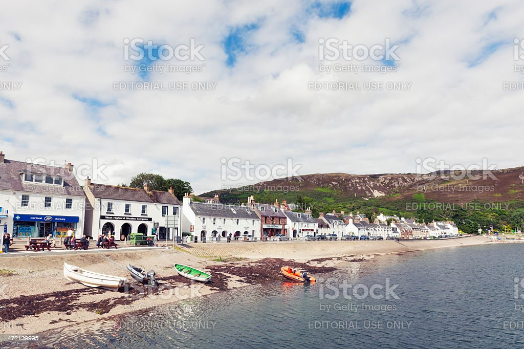 Ullapool Waterfront royalty-free stock photo