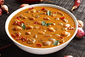 Ulli theeyal-made of onions,roasted coconut and spices,