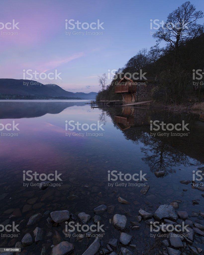 Ullswater Boathouse Dawn stock photo