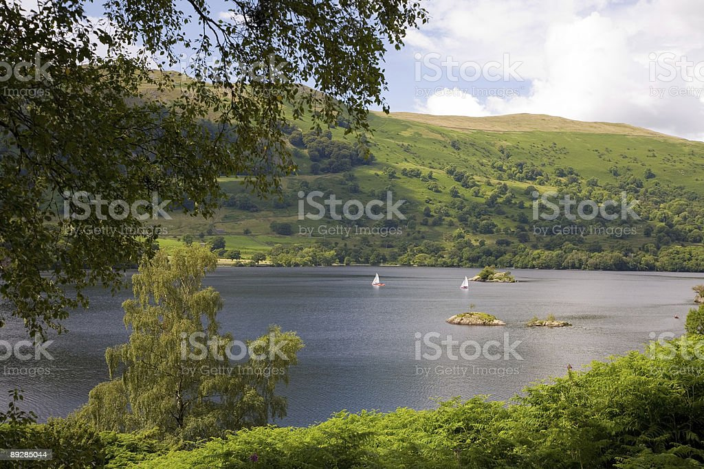Ullswater in the English Lake District stock photo
