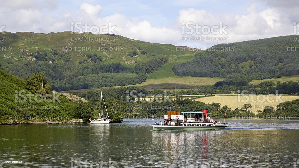 Ullswater Steamer royalty-free stock photo