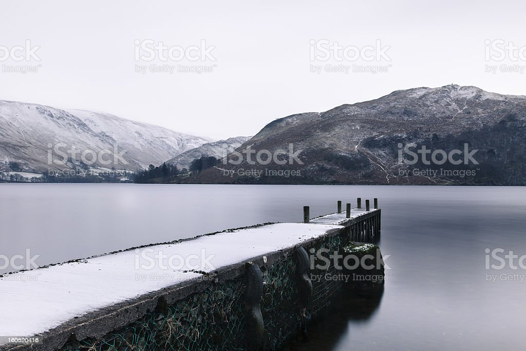 Ullswater Winter Scene royalty-free stock photo