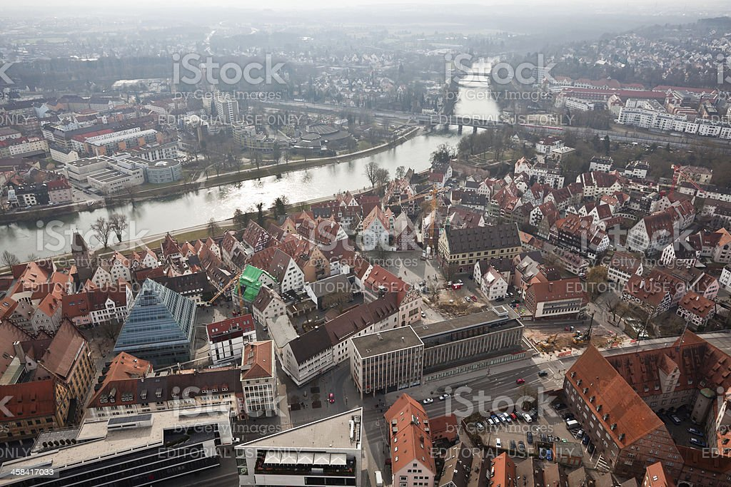 Ulm from the Above, Germany royalty-free stock photo