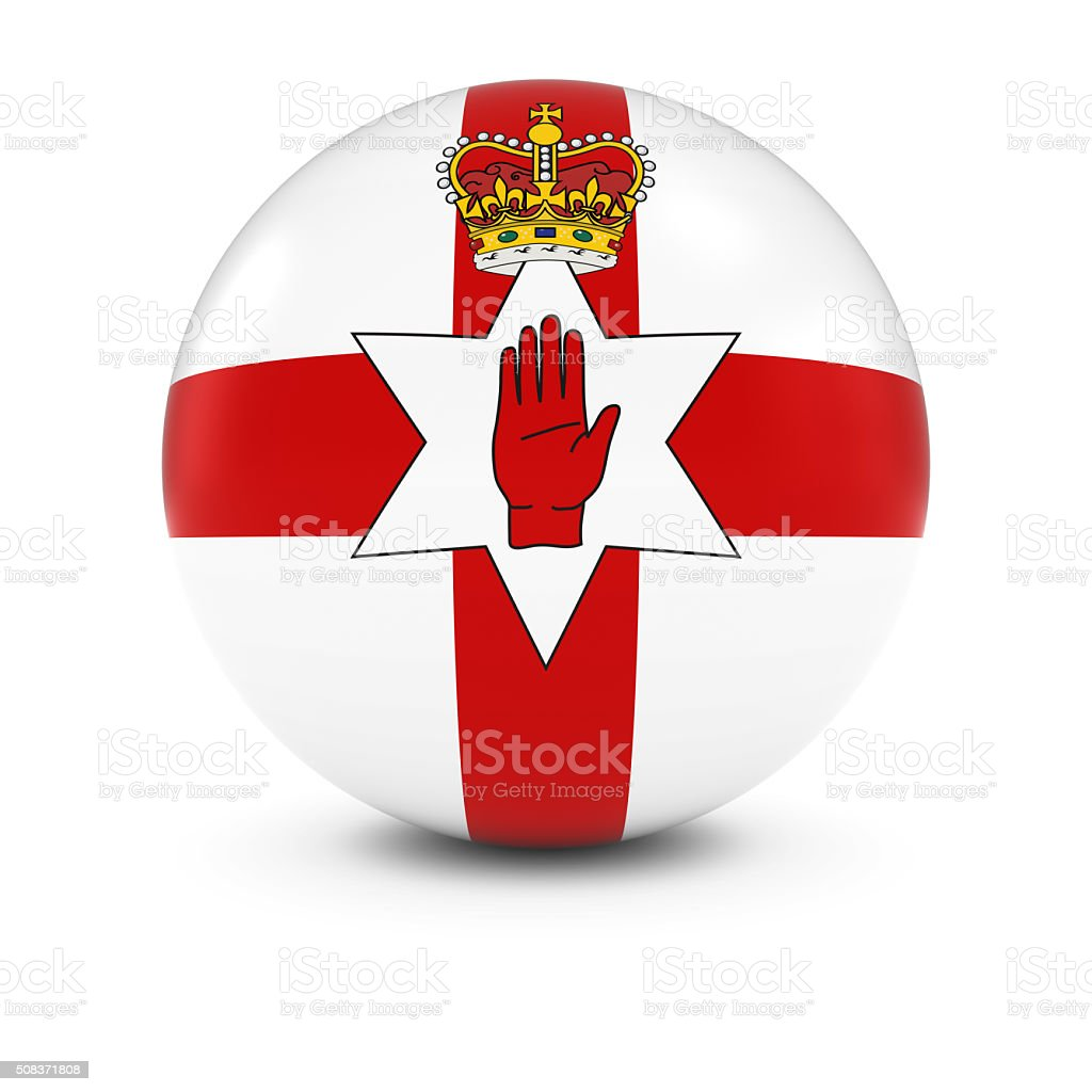 Ulster Flag Ball - Ulster Flag of Northern Ireland Sphere stock photo