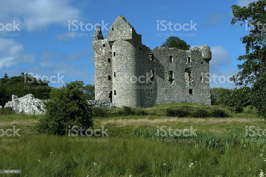 Ulster Plantation Castle stock photo
