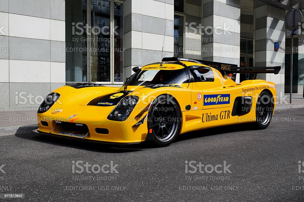Ultima GTR on the street stock photo