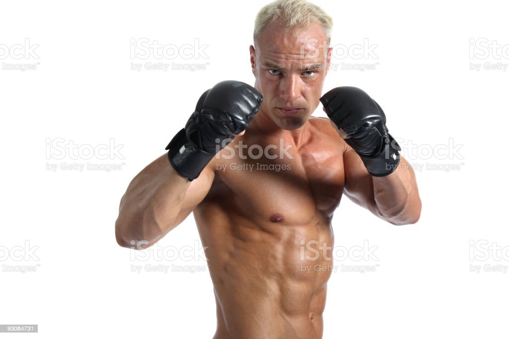 Ultimate fighter portrait royalty-free stock photo