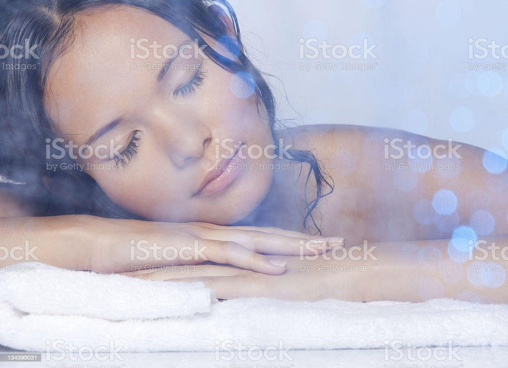Ultimate relaxation stock photo