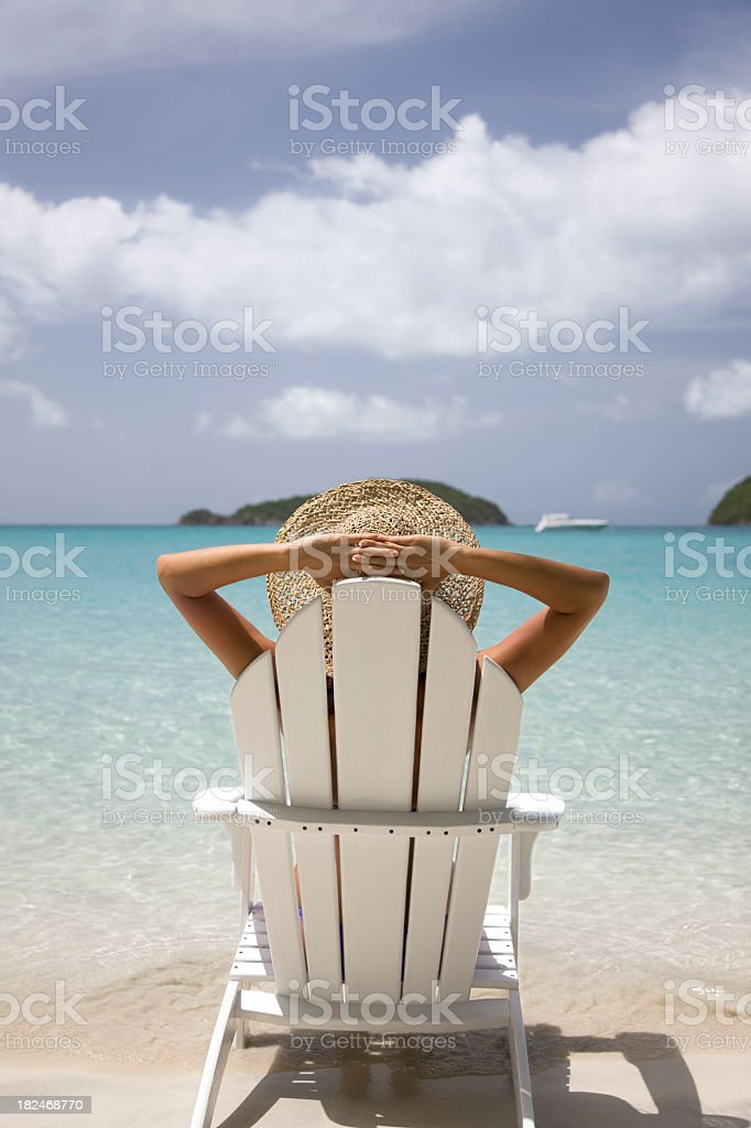 ultimate summer vacation at the Caribbean beach royalty-free stock photo