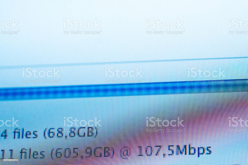 Ultra fast internet speed download files internet stock photo