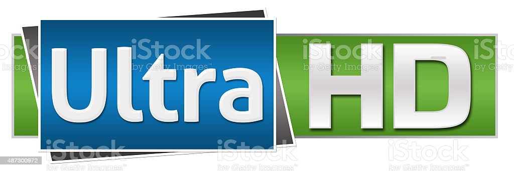 Ultra HD Green Blue Button Style stock photo