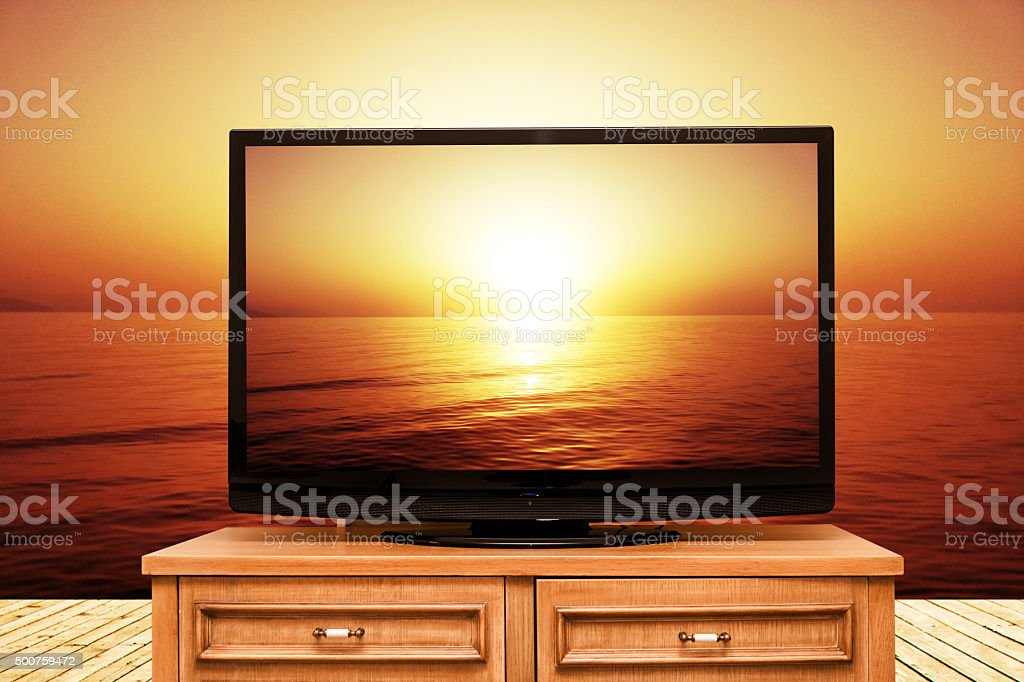 Ultra Hd Television stock photo