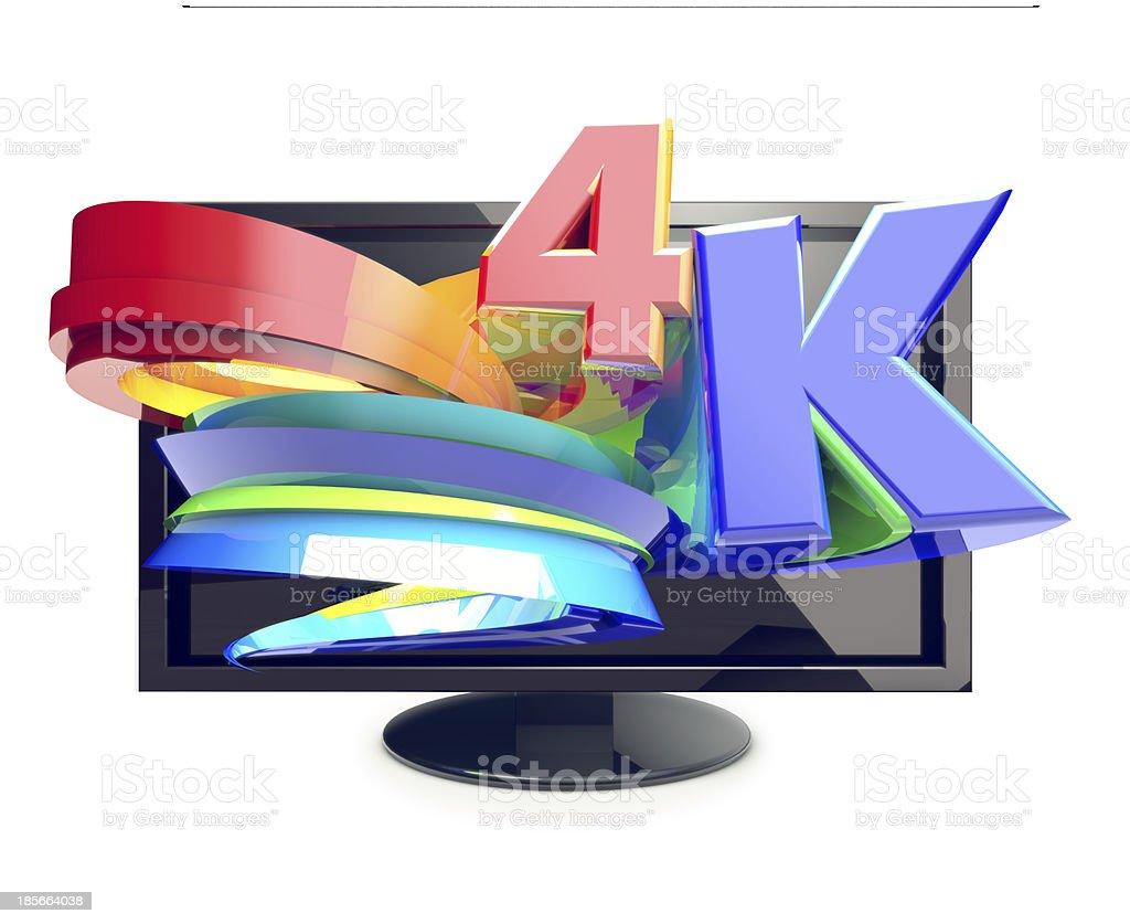 Ultra HD TV, 4K high-ress royalty-free stock photo